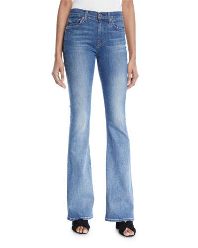 Ali Faded Flare-Leg Jeans