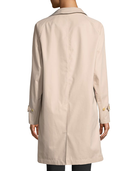 Camden Water-Resistant Car Coat w/ Check Lining