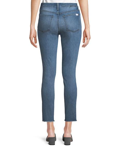Ankle Skinny Jeans w/ Crystal Hem