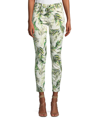 Ankle Skinny Palm Fronds Jeans
