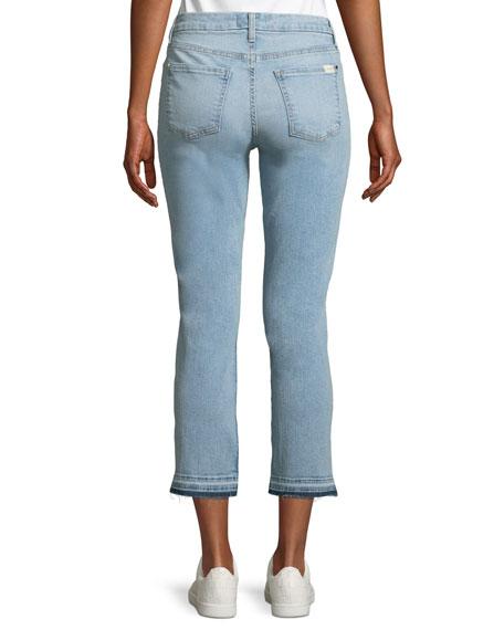 Straight-Leg Cropped Released-Hem Jeans