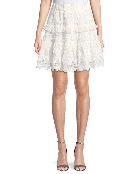 Alexis Jaqueline Lace Ruffle Skirt