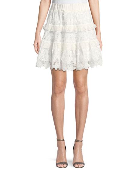 Jaqueline Lace Ruffle Skirt