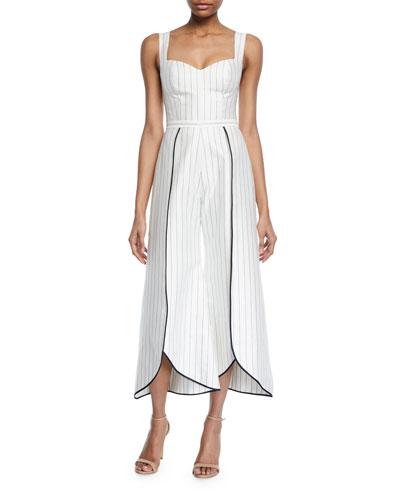 Edaline Striped Wide-Leg Jumpsuit