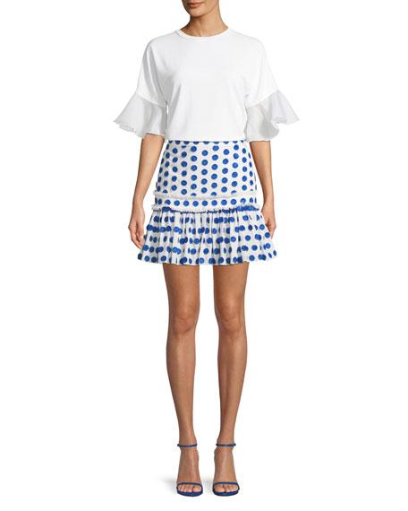 Harley Dot Applique Mini Skirt