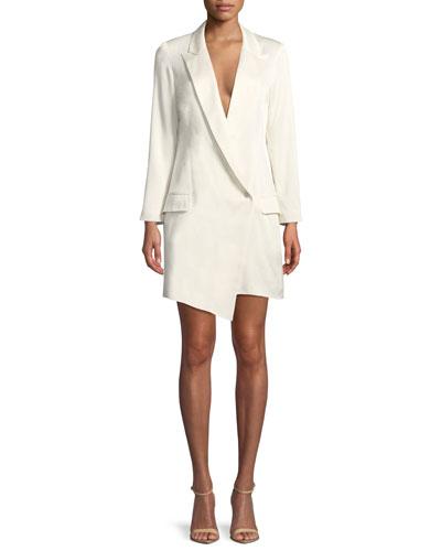 Aliyah One-Button Blazer Dress