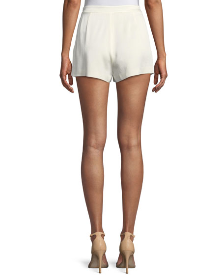 Leala High-Waist Pleated Shorts