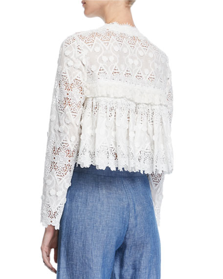 Betrice Long-Sleeve Lace Jacket