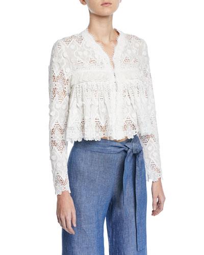 Betrice Long-Sleeve Lace Jacket