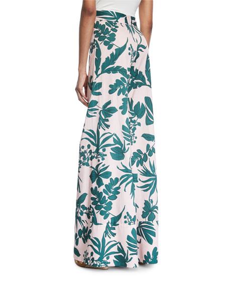 Dasha Tropical Wide-Leg Pants