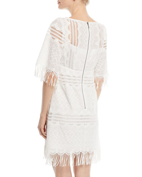Sunset Sky Mini Dress w/ Fringe