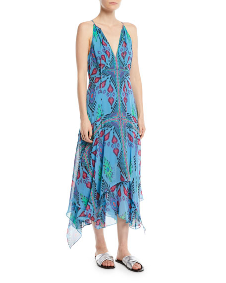 Island Style Silk Handkerchief Dress