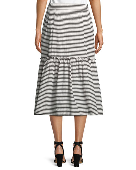 The Cove Striped A-Line Skirt