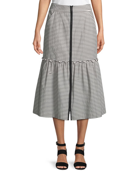 Nanette Lepore The Cove Striped A-Line Skirt