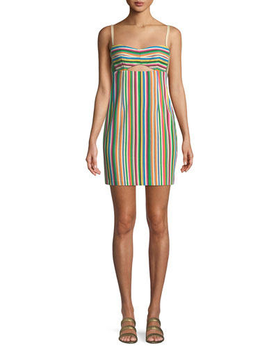 Atlantis Striped Mini Dress