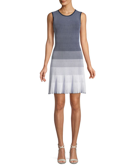 Laidley Ombre Pleated Dress