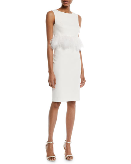 Badgley Mischka Collection Sleeveless Sheath Cocktail Dress w/