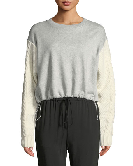 3.1 Phillip Lim French Terry Crewneck Sweatshirt with