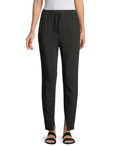 Split-Hem Suiting Track Pants