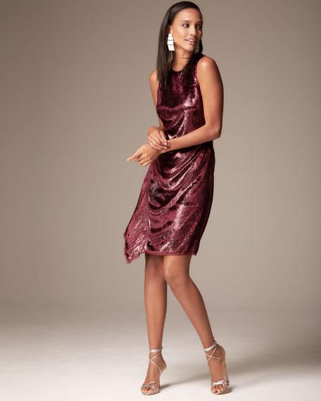 Serenity Metallic Sleeveless Dress
