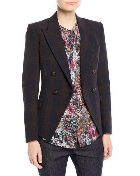 Jezebel Double-Breasted Plaid Jacket