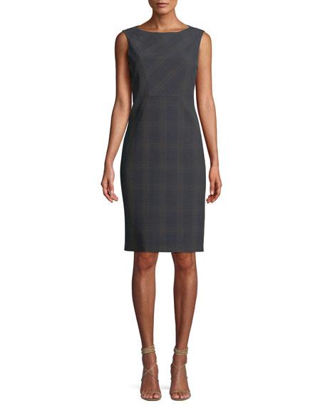Vanny Plaid Sheath Dress