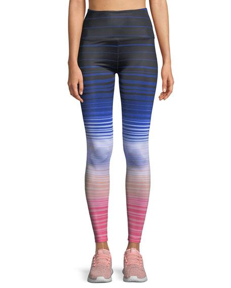 Beyond Yoga Lux Striped High-Waist Leggings