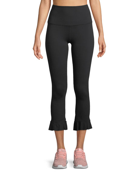 Beyond Yoga Frill Seeker High-Waist Midi Leggings w/