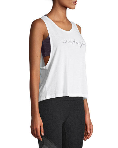 Sundaze Sleeveless Twist-Back Tank