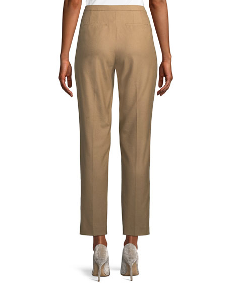 Karis Straight-Leg Wool-Stretch Pants