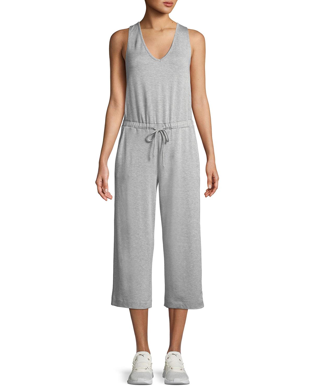 21a613c77aa8 Beyond Yoga Farrah Scoop-Neck Sleeveless Wide-Leg Cropped Jumpsuit ...