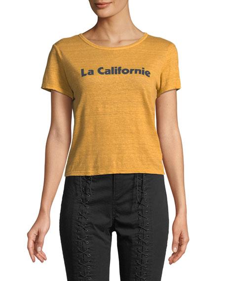 A.L.C. La Californie Graphic Crewneck Tee