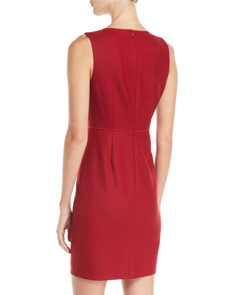 Jadea Sleeveless Keyhole-Front Sheath Dress