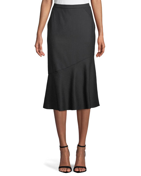 Elie Tahari Eavanna Flared Midi Skirt