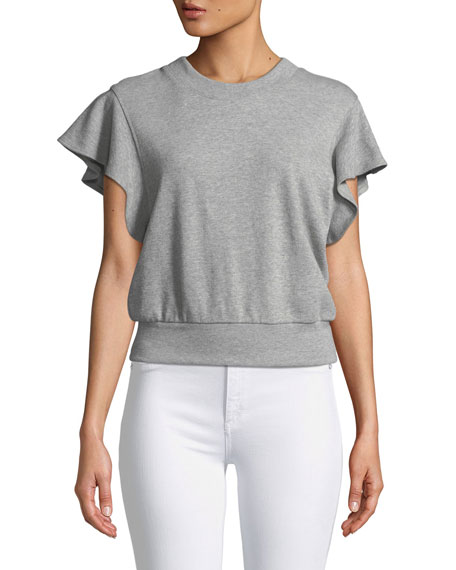 Remick Flutter-Sleeve Sweatshirt