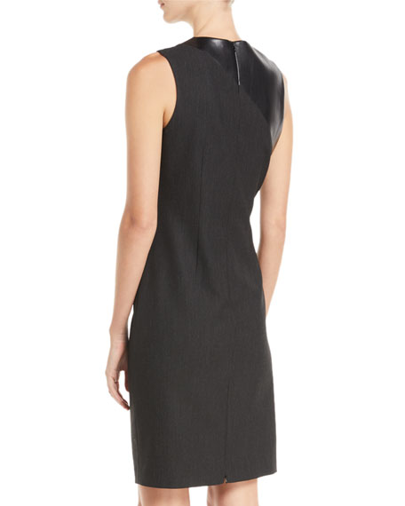 Raphaella Side-Ruched Sheath Dress
