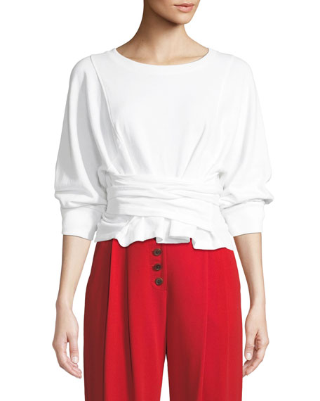 A.L.C. Atlas Tie-Front Sweatshirt