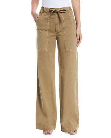 Carver Belted Wide-Leg Pants