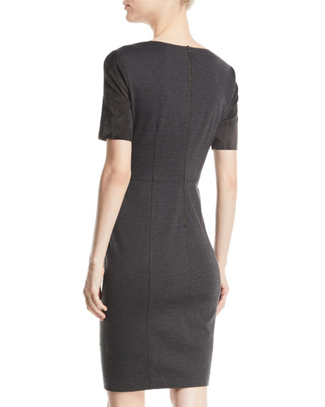 Emily Suede Sheath Dress
