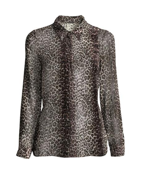Ingunn Leopard-Print Blouse