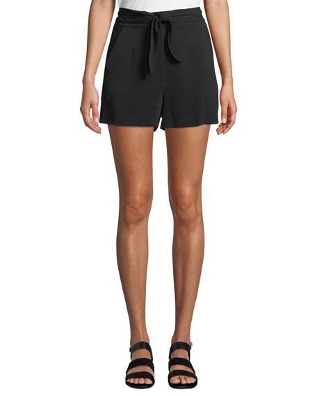 Kerry High-Waist Tie-Front Shorts