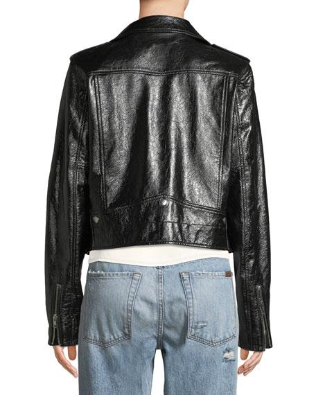 Jacalyn Textured Leather Jacket