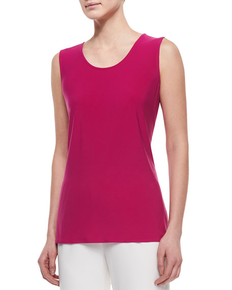 Caroline Rose Sleeveless Long Tank, Petite