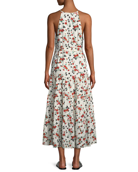 Richards Floral-Print Silk Midi Dress