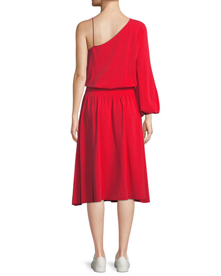 Shara One-Sleeve Midi Dress