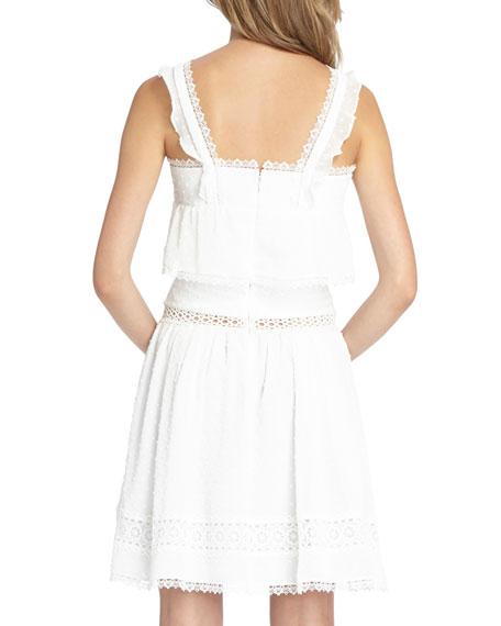 Spotty Chiffon Mini Halter Dress