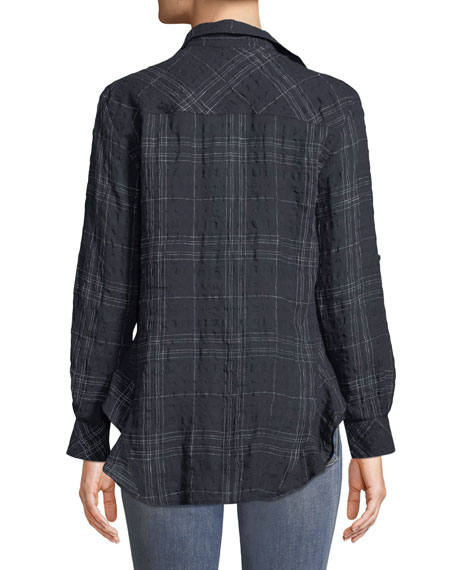 Windowpane Agetha Button-Front Shirt