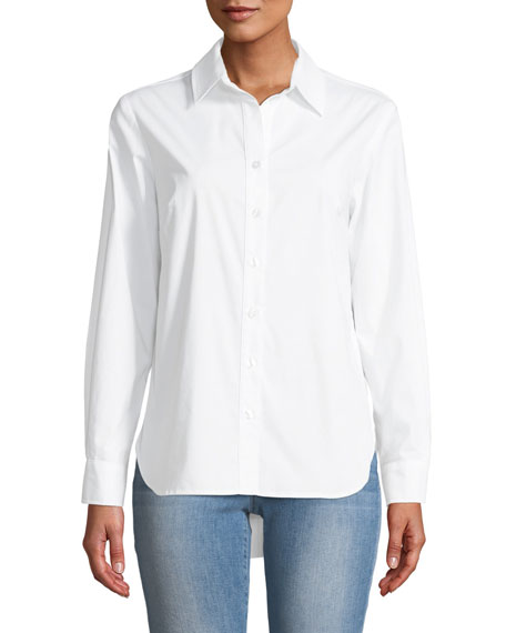 Finley Diedre Pleat-Back Button-Down Shirt