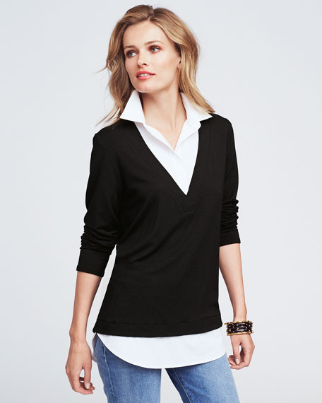 Samantha Popover Combo Shirt