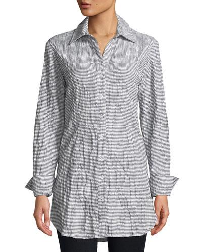 Kaylynn Tech Check Tunic Shirt
